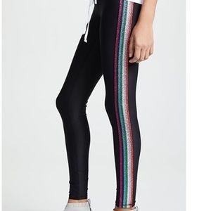Terez metallic elastic sides leggings (S)